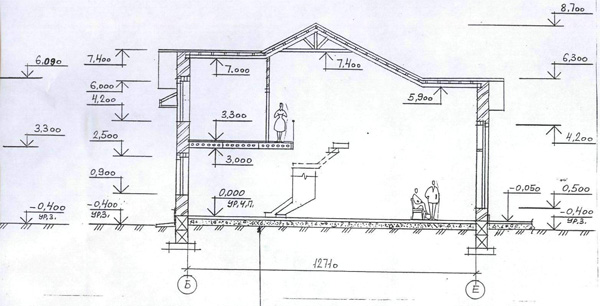проект дома 31-88 разрез.