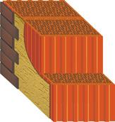 кладка внешней стены с применением крупноформатного керамического поризованного блока Керакам СуперТермо.