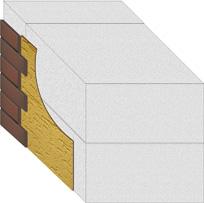 Кладка внешней стены с применением блоков ячеистого бетона.