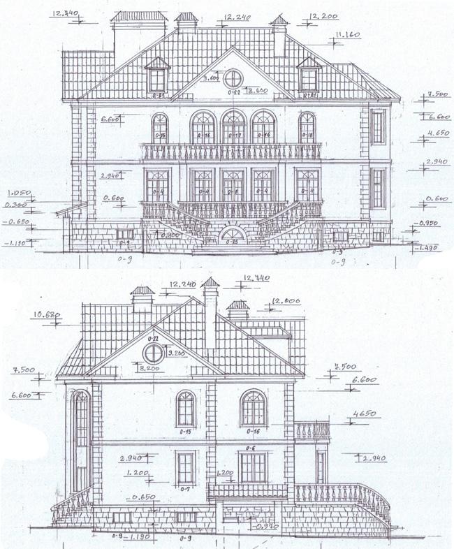 Проект дома 47-55 фасады