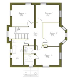Проект дома 58-30 с цоколем