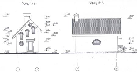 Фасад по проекту дома 58-69