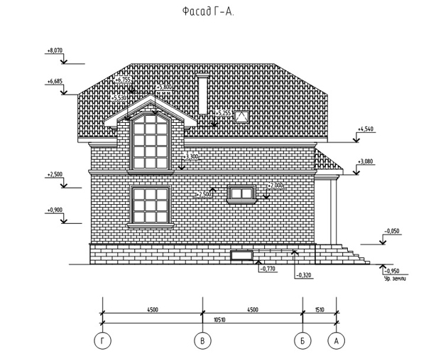 Фасад 2 проекта дома 88-23