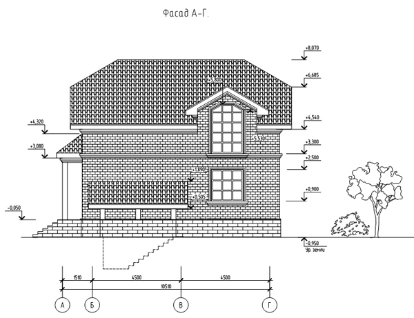 Фасад 4 проекта дома 88-23