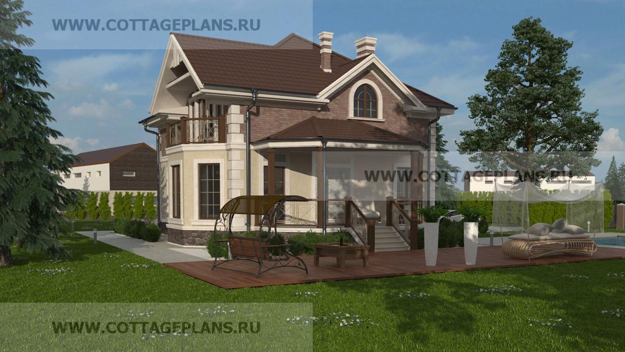 Проекты домов из пеноблоков 11 на 11 м в Петрозаводске