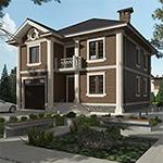 Проекты домов с встроенным гаражом на 1 машину