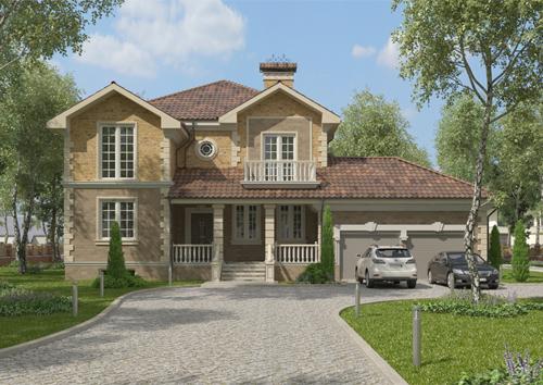 Проект дома из керамических блоков 89-14