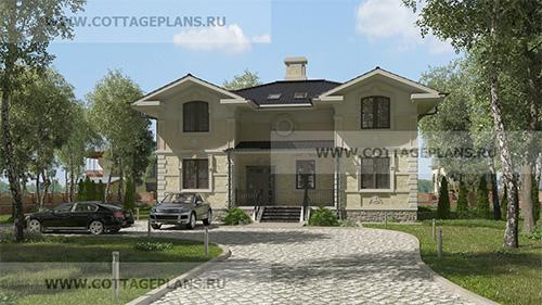 проект двухэтажного дома, с мансардой, с сауной, парной в доме