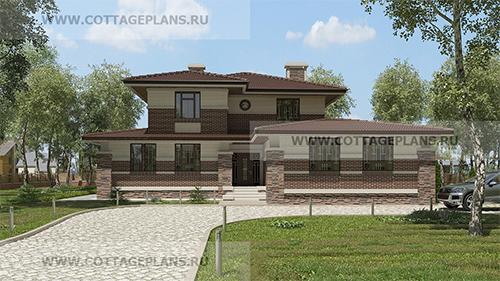проект двухэтажного дома, с полноценным вторым этажом, на 2 семьи