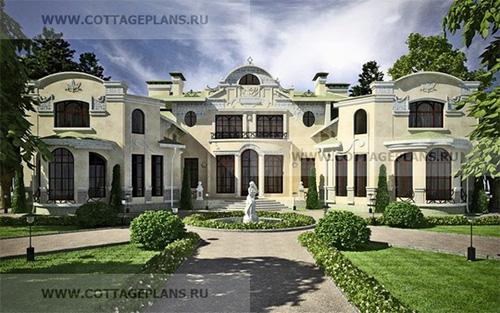 проект большого двухэтажного дома, с полноценным вторым этажом
