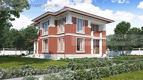 проект двухэтажного дома, с полноценным вторым этажом, с шестью спальнями, с сауной, парной в доме
