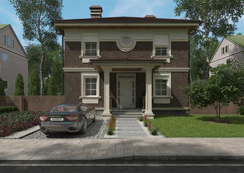 проект дома с хорошей планировкой с 4-мя спальнями
