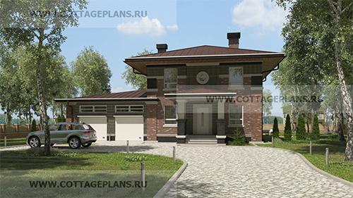 проект двухэтажного дома с пятью спальнями