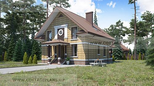 проект двухэтажного дома с мансардой и вторым светом