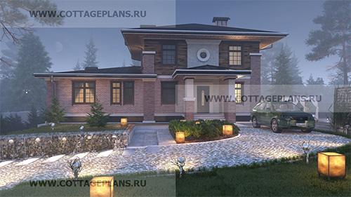 проект двухэтажного дома с полноценным вторым этажом, с сауной, парной в доме