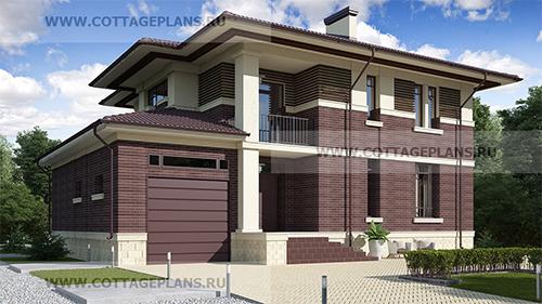проект современного, практичного дома с пристроенным гаражом на одну машину