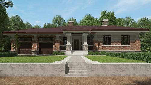 Проект дома из керамических блоков Керакам СуперТермо30 90-01
