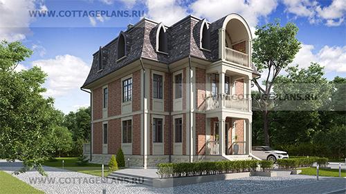 проект дома на 3 семьи в классическом стиле