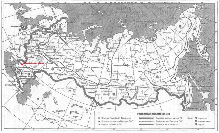 Климатическая карта влажности город Ростов-на-Дону
