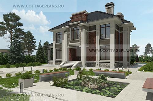 Проект двухэтажного дома с полноценным вторым этажом, с шестью спальнями