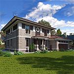 Проекты домов с пристроенным гаражом на 2 машины