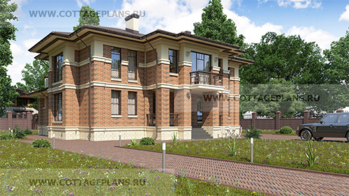 проект двухэтажного дома, с полноценным вторым этажом, с четырьмя спальнями, со вторым светом