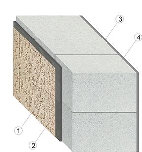 кладка газобетонного блока D500 с облицовочным штукатурным слоем