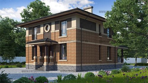 проект двухэтажного дома, с полноценным вторым этажом, с шестью спальнями